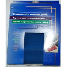 Ergonomic blue mouse pad
