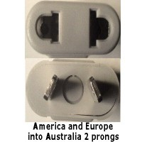Australia prong socket adapter grey plug converter