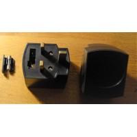 UK prong socket adapter plug converter black with fuse