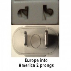 America prong socket adapter plug beige
