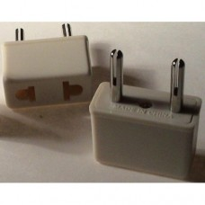 Europe prong socket adapter white plug bulk