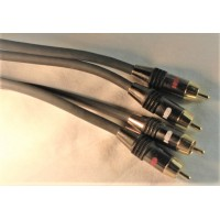 2 X Balanced AMX audio cable male-male phono gold plated plug RCA mono 0,8 Meters (6' feet) extension (retail)
