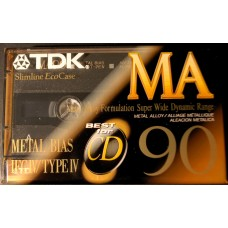 TDK audio metal cassette MA-90 minutes