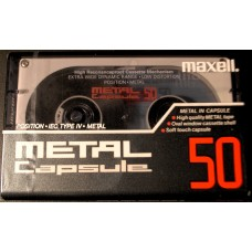 Audio metal cassette MAXELL CAPSULE 50 MIN