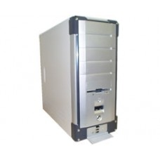 ATX mid-tower PC silver computer standard case without power supply