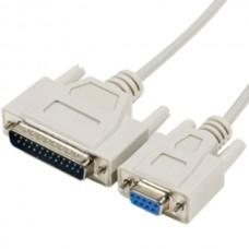Serial cable 6 feet DB9F DB25M