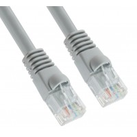 6' ft feet RJ45 modular network cable grey CROSSOVER 6ft