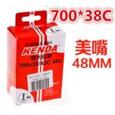 Bicycle tube 700 mm, 35-43 mm (1,4 to 1,7 inches), with Schrader valve A/V 48 mm Kenda