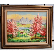 """Painting from Yves Marineau, """"Paysage """" - FREE SHIPPING"""