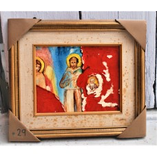"Painting from Yves Marineau, ""Madone aux anges avec St-François d'après Cimabue"" - FREE SHIPPING"