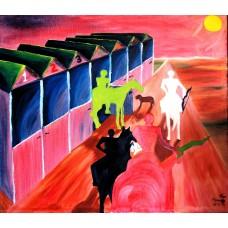 """les quatre cavaliers"", Yves Marineau - FREE SHIPPING"
