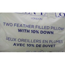2 Pillows 100% cotton cover - filled with 90% white duck feather and 10 % down