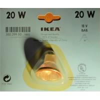 20 watts halogene light bulb clear 38o, UV filtering, MR16, 12 Volts, bi pins, covered, 2 pins beam, 1 3/8 inch large