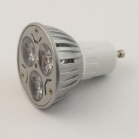 9 watts LED, GU10, downlight globes, 85-265 Volts, light bulb clear, 3 x 3 W, 50000h, warm, spotlight