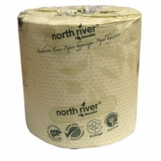 Recycled toilet paper Cascades North River bulk 500 sheets (box of 96 rolls)