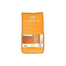 Schluter ALL-SET® is a specialized modified thin-set mortar specifically formulated for use with Schluter® membranes and boards.
