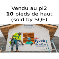 Tyvek Dupont HomeWrap membrane 10 feet high air barrier - SOLD BY SQUARE FEET