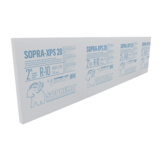 "20 psi. 2"" x 2' x 8'. R10. Thermal insulation board Soprema SOPRA-XPS 20 psi"